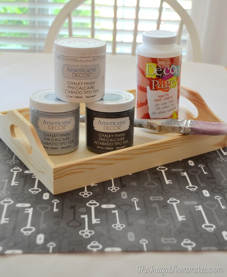 DIY tray: Distressed Decou-Page Tray