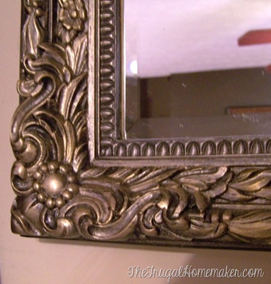 oil rubbed bronze spray painted mirror