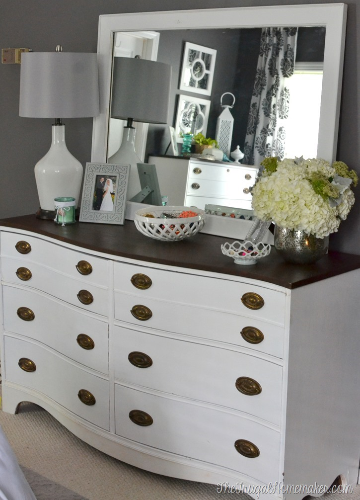 Painted Dresser And Mirror Makeover (Master Bedroom Furniture