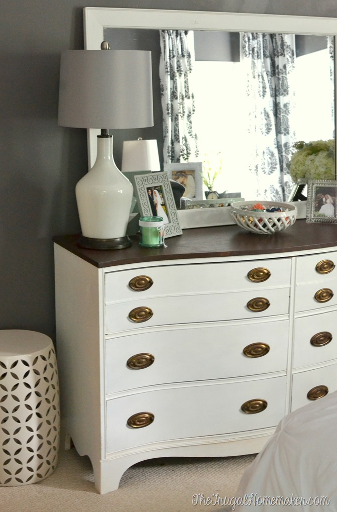 Painted dresser and mirror makeover master bedroom furniture for How to paint my bedroom furniture