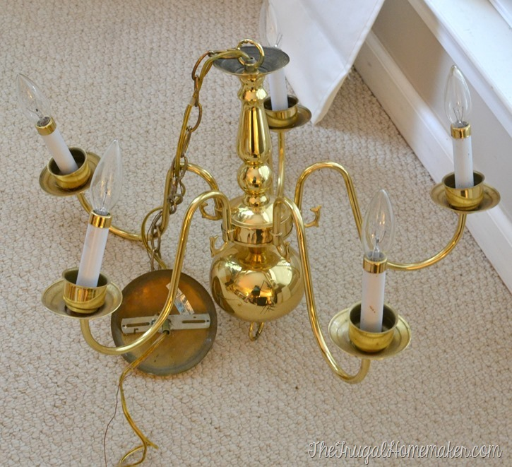 Friday Faves + Frugal Finds: Brass light fixture + lamp