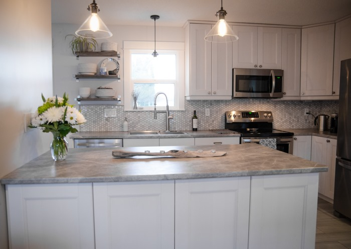 formica and gray view beautiful corner white countertop laminate countertops with kitchen kitchens marble