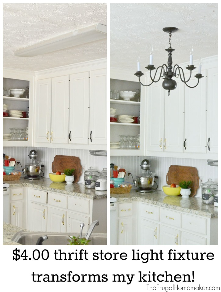 $4.00 thrift store kitchen light fixture