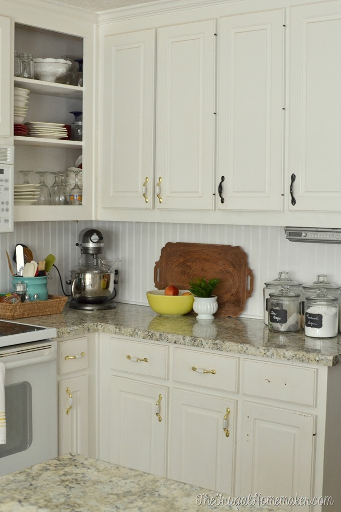 How to install a DIY beadboard backsplash (Kitchen Makeover)