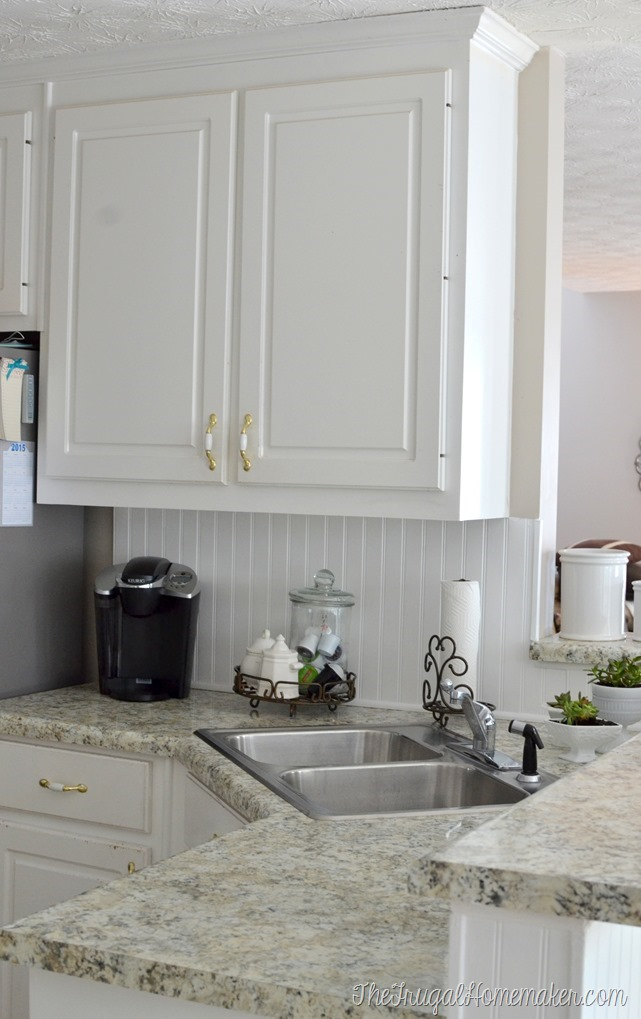 how to install a diy beadboard backsplash kitchen makeover