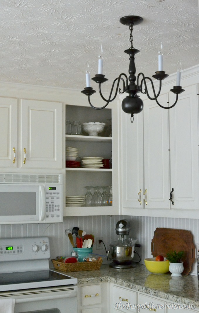 New Thrift Store Light Fixture In The Kitchen Kitchen Makeover - Kitchen light fixtures pictures