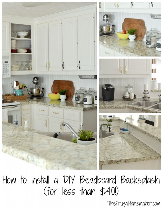 How Much To Install Backsplash installing kitchen tile backsplash How To Install A Diy Beadboard Backsplash Kitchen Makeover