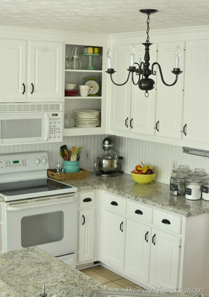 How to re paint your yucky white cabinets for How to paint white cabinets