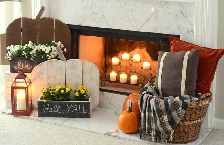 DIY Rustic Wood Pumpkin Stand