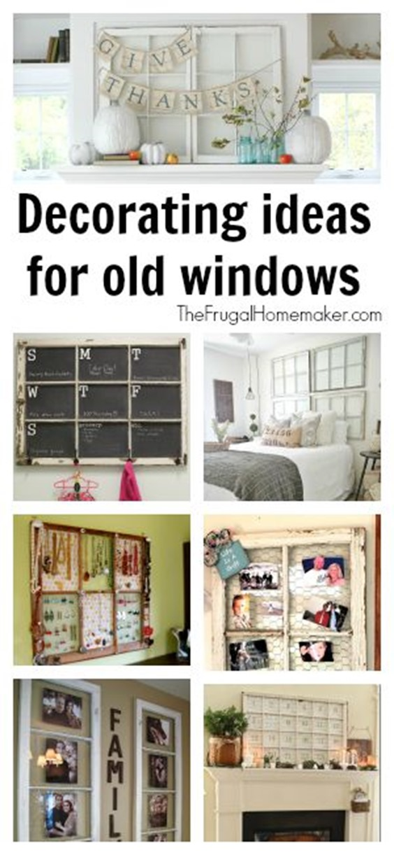 Decorating ideas for old windows How to decorate windows