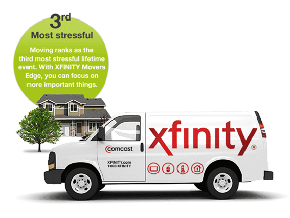 Moving is stressfull, let Xfinity help take some of the stress away