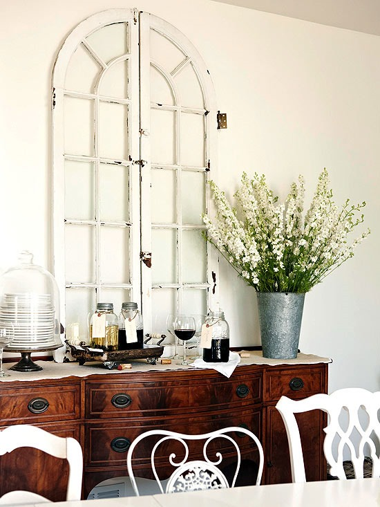decorate with old arched windows