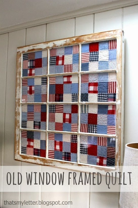 old window framed quilt