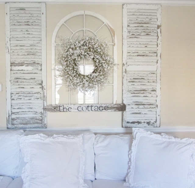 Window And Shutters Used As Wall Decor
