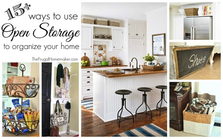 15  ways to use open storage to organize your home