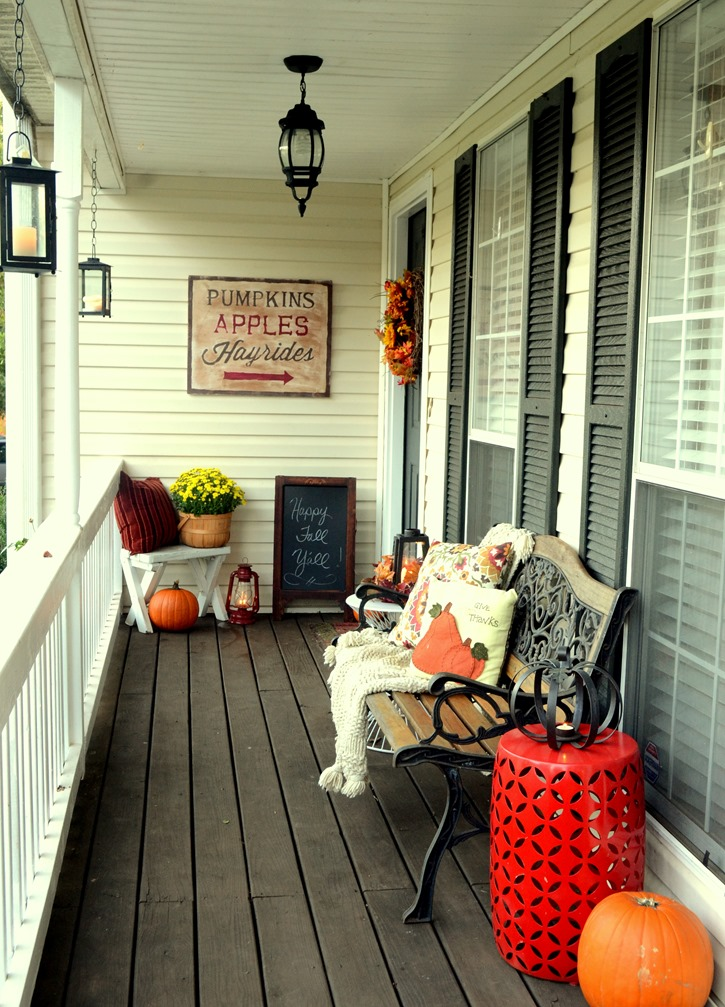 Make Your Front Porch Say Welcome Diy Rustic Fall Sign