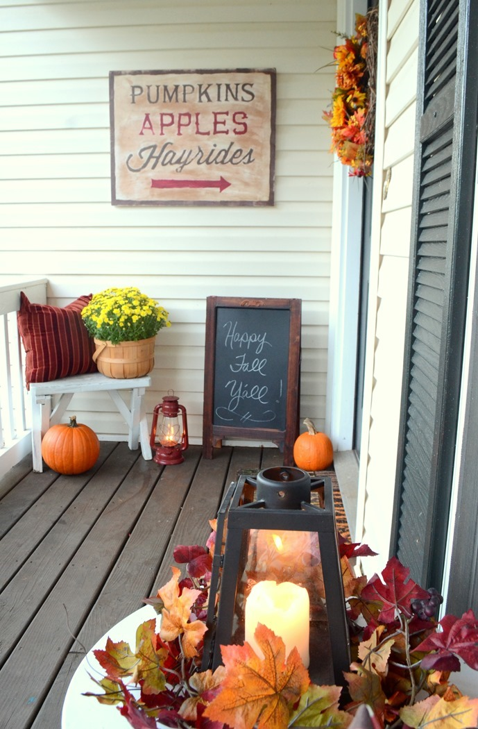signs for fall front door decor