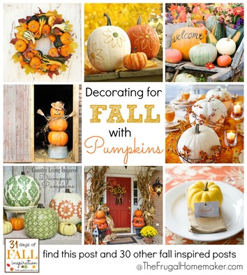 Decorating for Fall with Pumpkins
