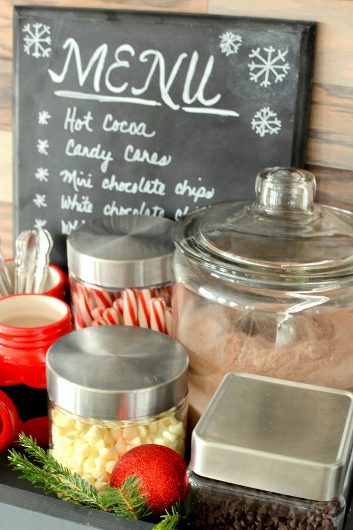 Hot chocolate station in the kitchen