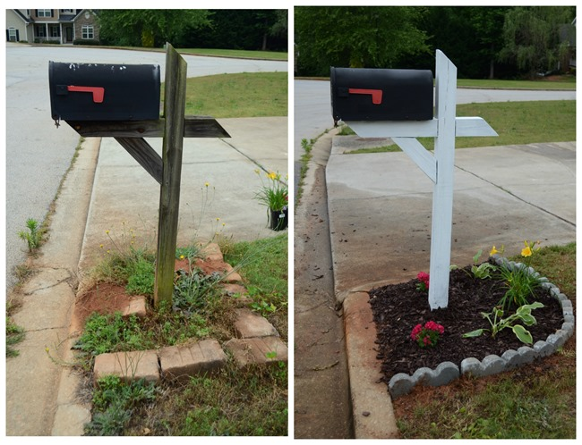 Mailbox makeover with DecoArt Color Stain