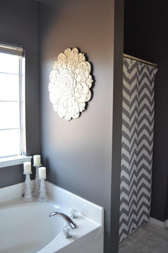 dark gray master bath