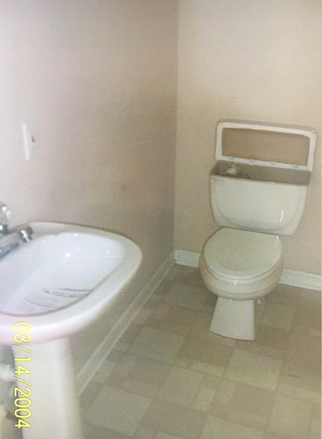 half bathroom before