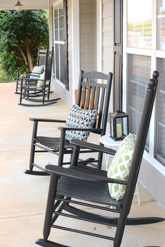 Would You Leave The Rocking Chairs Black Or Paint Them White? And What  About The Swing? Leave It As Is Or Paint Black To Match?