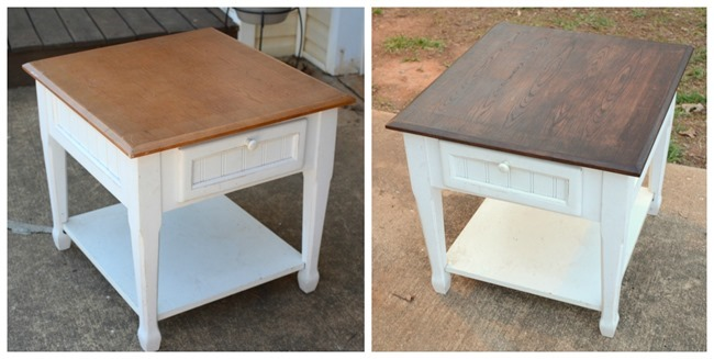End table beforeafter
