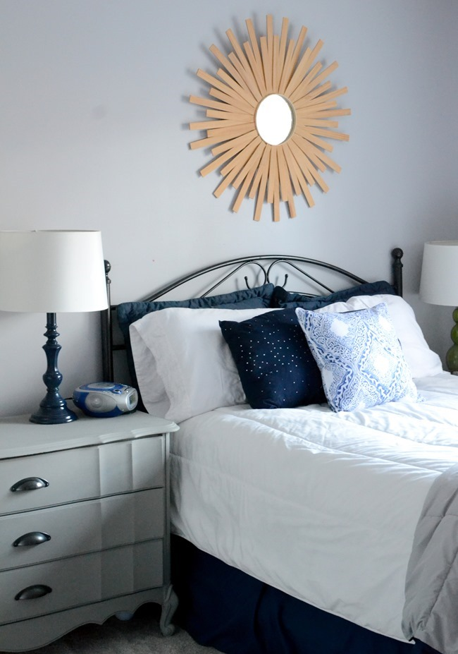 Guest room headboard and dresser redo