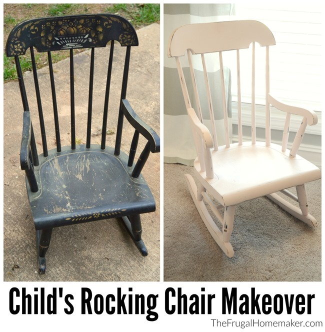 Child's Rocking Chair Makeover