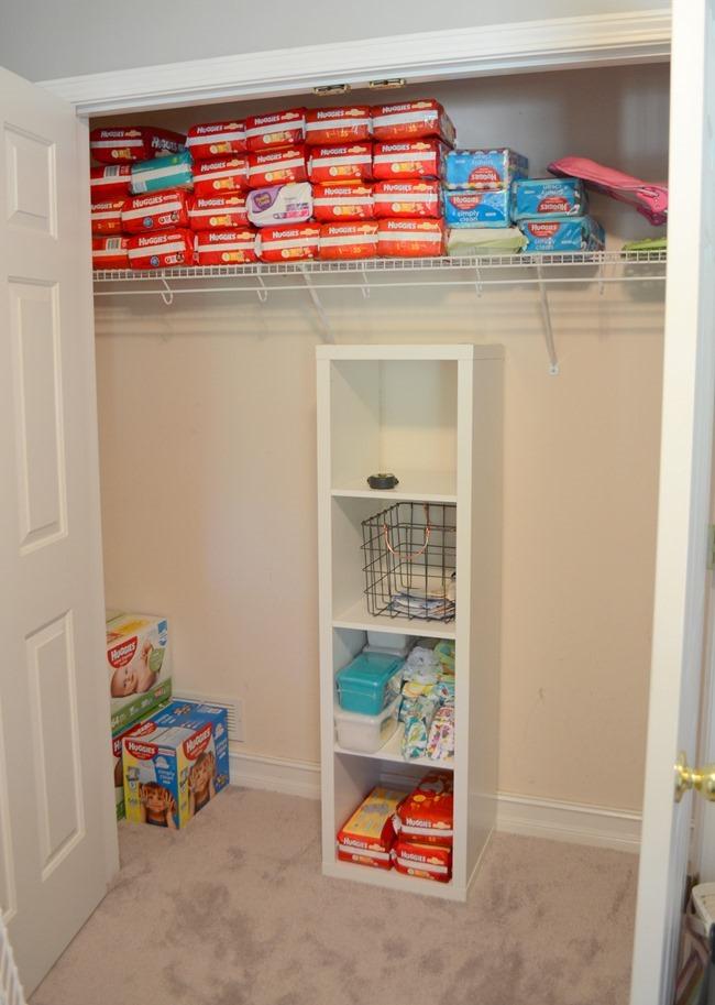 DIY Nursery Closet Organization