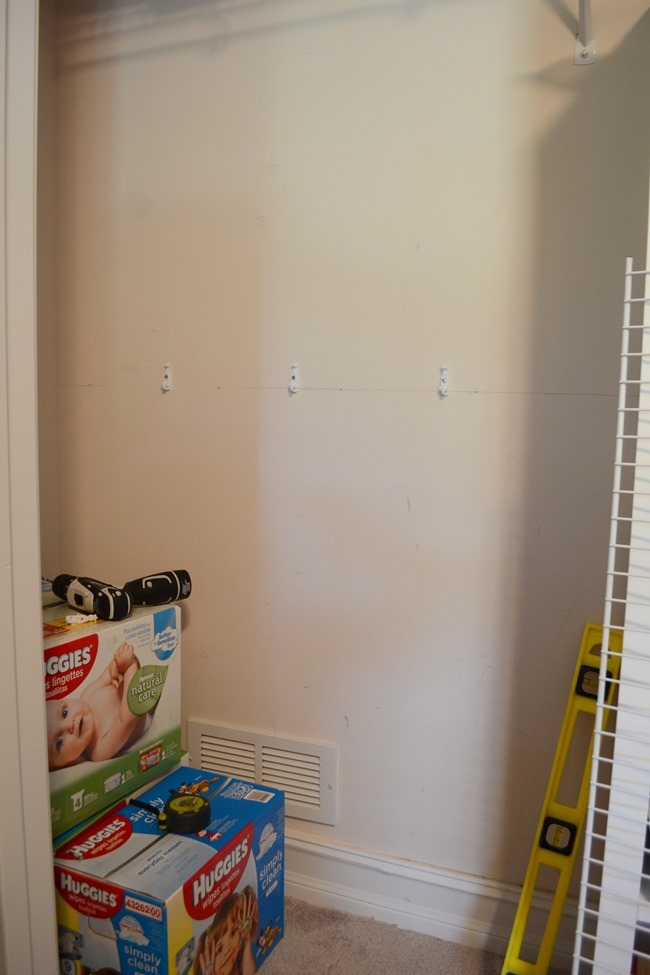 DIY Nursery Closet Organization