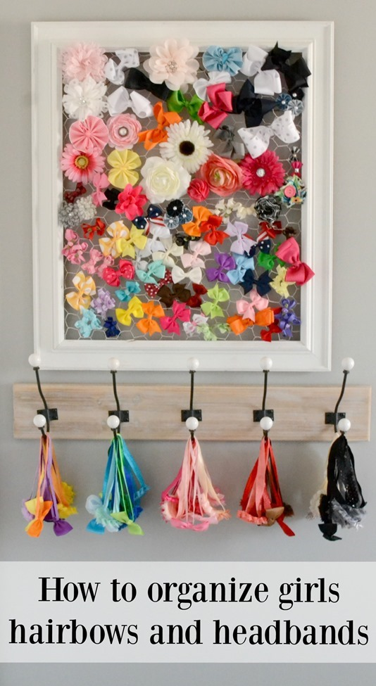 How to organize girls hairbows and headbands