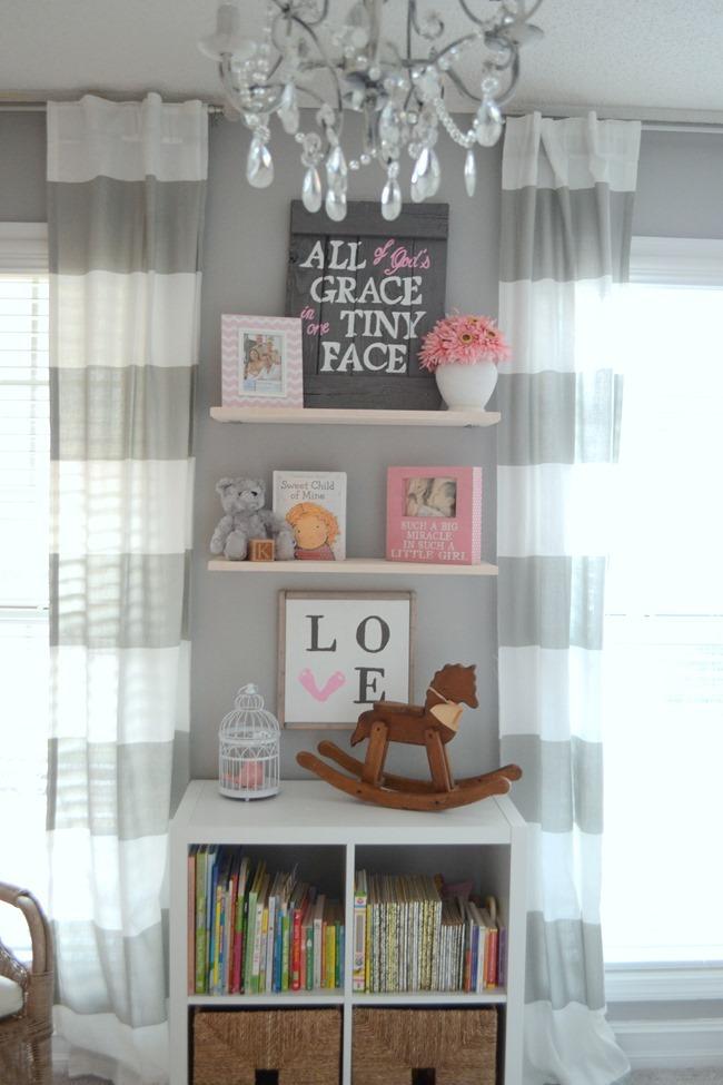 Diy Floating Shelves In The Nursery