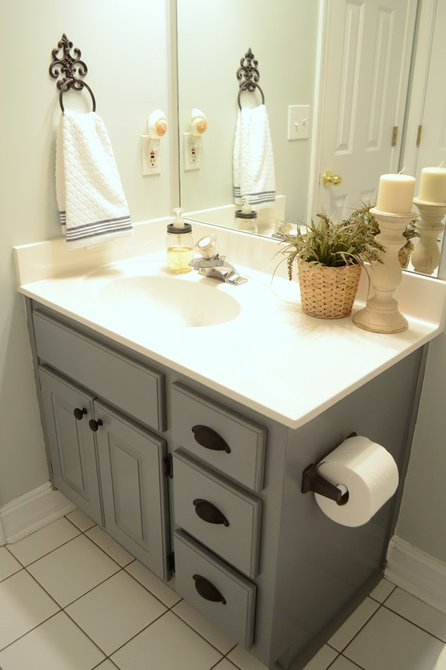 Ordinaire Stained Wood Framed Bathroom Mirror