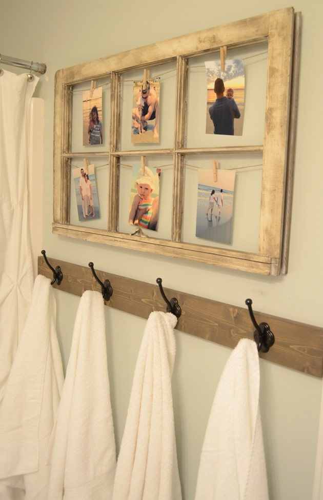 Rustic Window Picture Display