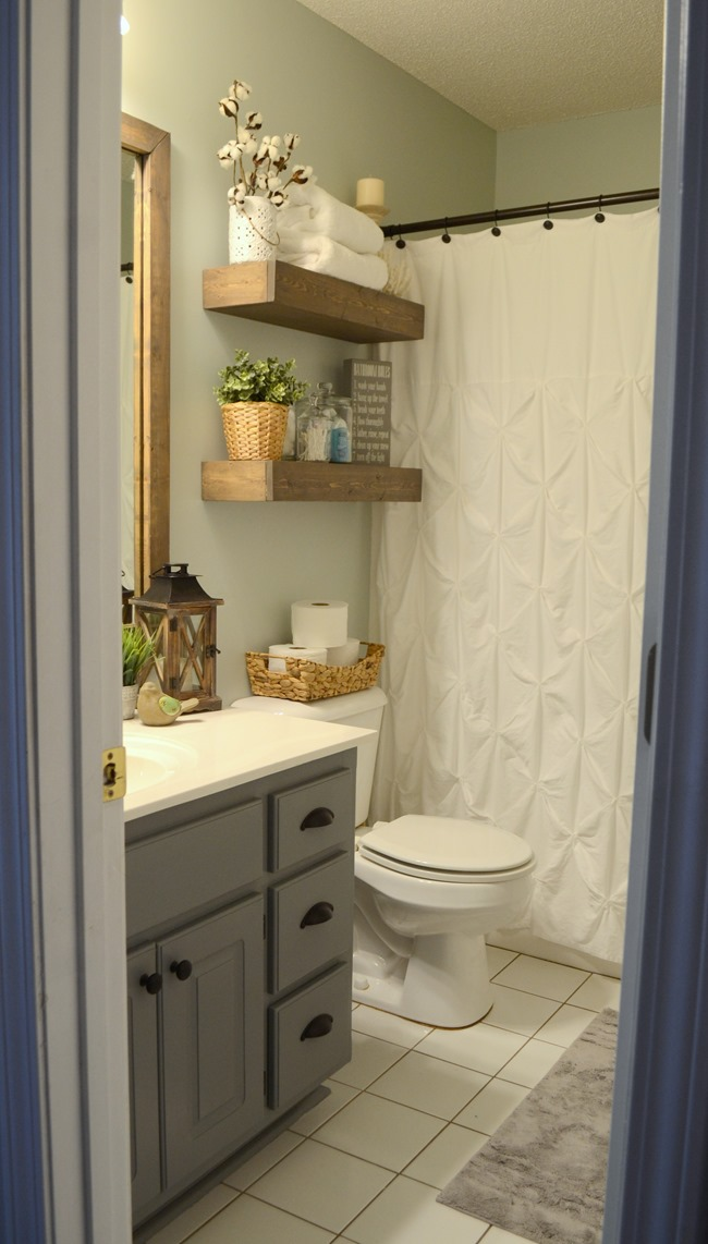 modern farmhouse inspired bathroom makeover one room one month 100