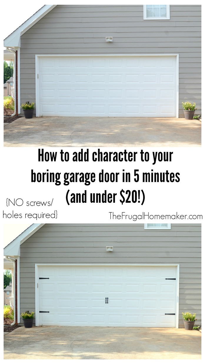 How to add character to your garage door in 5 minutes and for less than $20