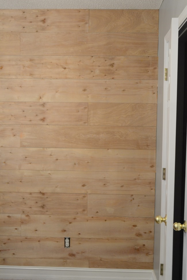 How to install a faux shiplap wall for less than $30