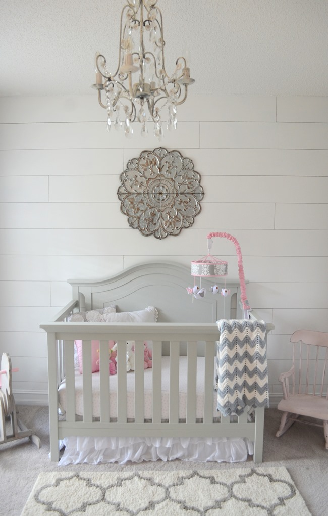 Shiplap Wall In The Nursery How To Install A Faux Shiplap