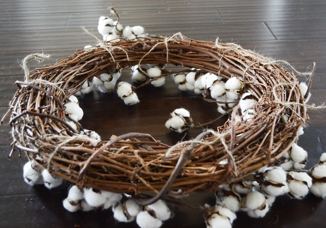 DIY Cotton Wreath-7