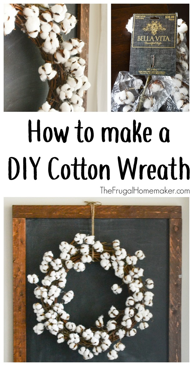 How to make a DIY Cotton Wreath