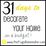 Day 22 – Shop for décor at the Dollar Store