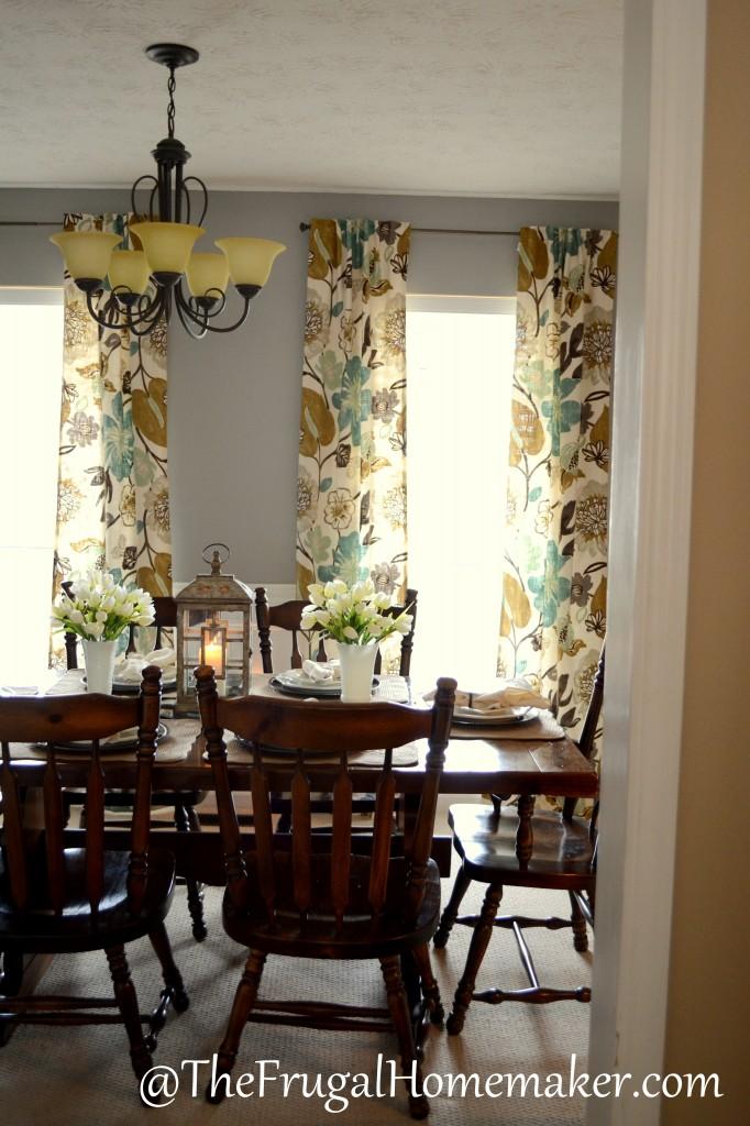 Day 27 - Curtains on Farmhouse:-Cra1Rtrksu= Dining Room Curtains  id=18115