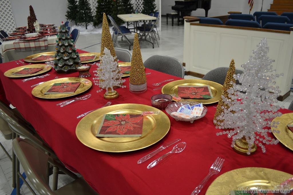 Christmas Dinner Table Ideas From Our Church S Christmas Dinner