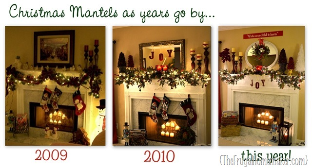 collage of mantels