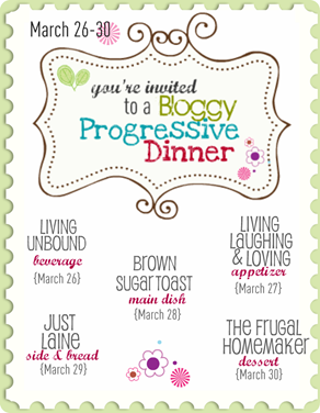Bloggy Progressive Dinner Poster