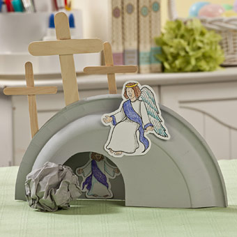 Easter-Craft-He-Is-Risen-Tomb