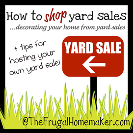 What to look for at yard sales {How to shop yard sale series}
