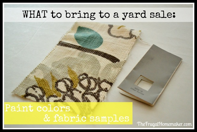 paint colors and fabric samples